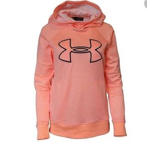 Under Armour cold gear technology big logo hoodie